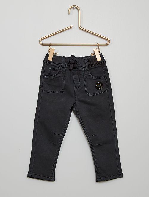 Pantalon en denim éco-conçu                                                     gris foncé