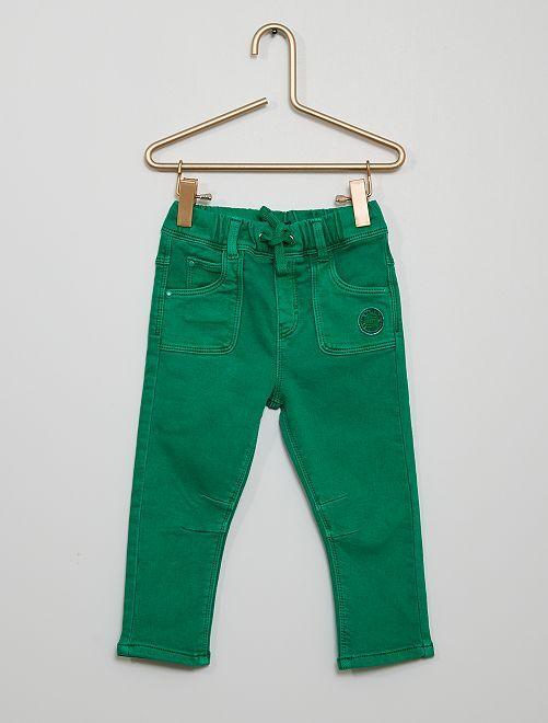 Pantalon en denim éco-conçu                                                     vert