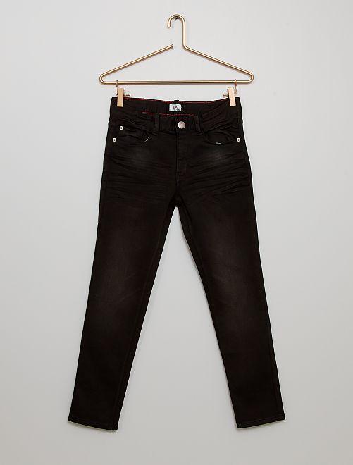 Pantalon en denim éco-wash                             noir
