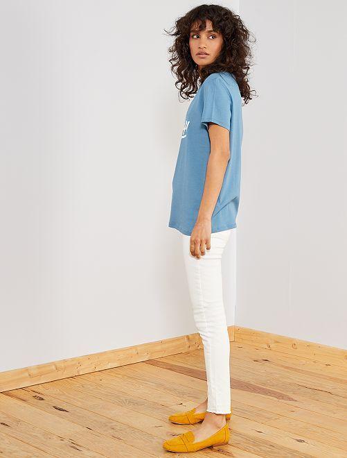 Pantalon en denim skinny                                                                                         blanc Femme