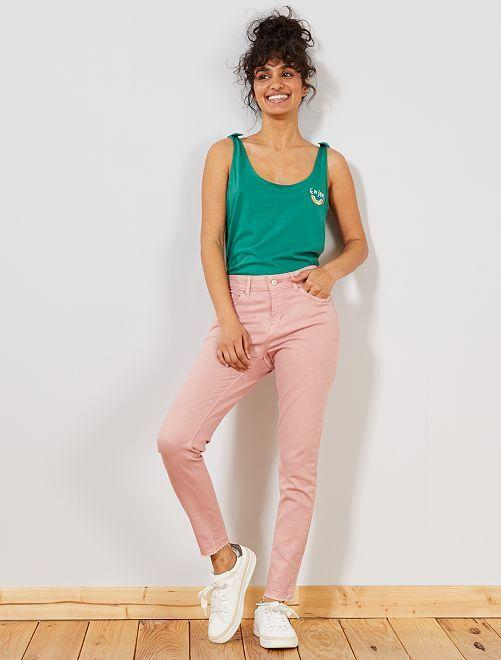 Pantalon en denim skinny                                                                             rose pâle Femme