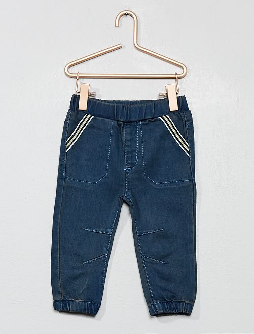 Pantalon en denim stretch                             bleu