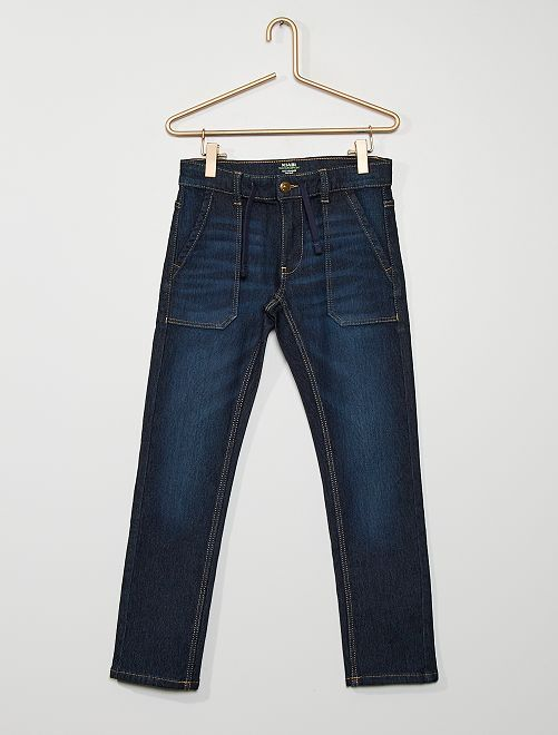 Pantalon en denim stretch                                         bleu