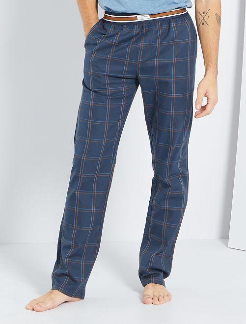 Pantalon en flanelle                                         bleu