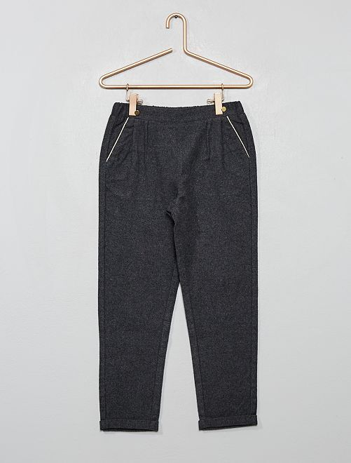 Pantalon en flanelle                             gris