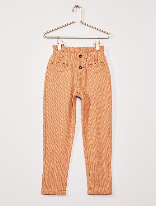 Pantalon en flanelle                                         MARRON