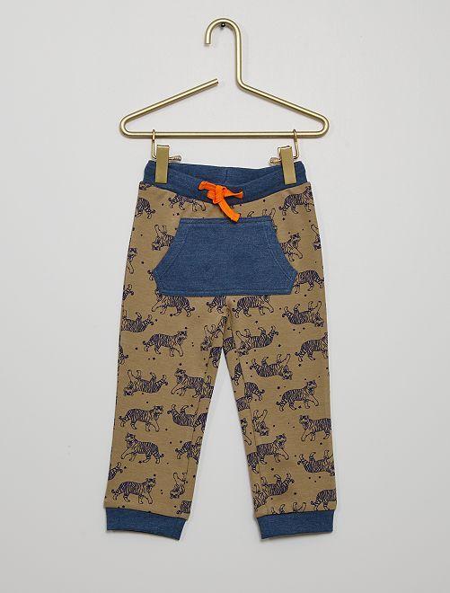 Pantalon en jersey                             marron/bleu