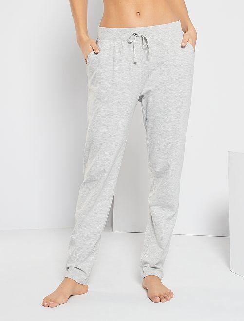 Pantalon en jersey uni                             gris