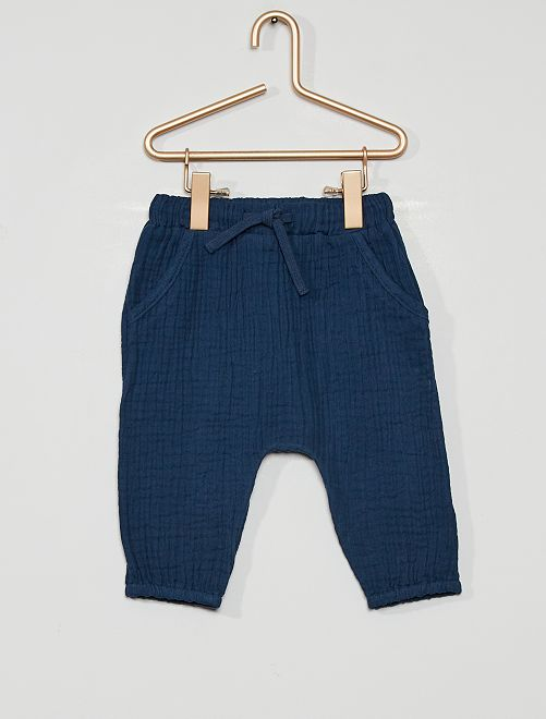 Pantalon en lange éco-conçu                             bleu