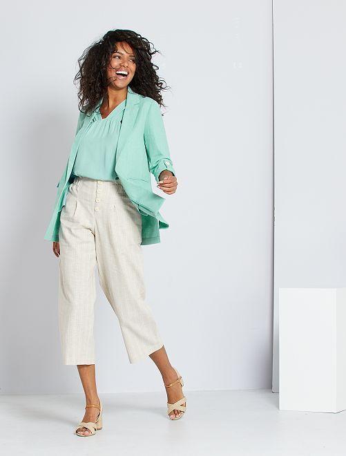 Pantalon en lin éco-conçu                             beige
