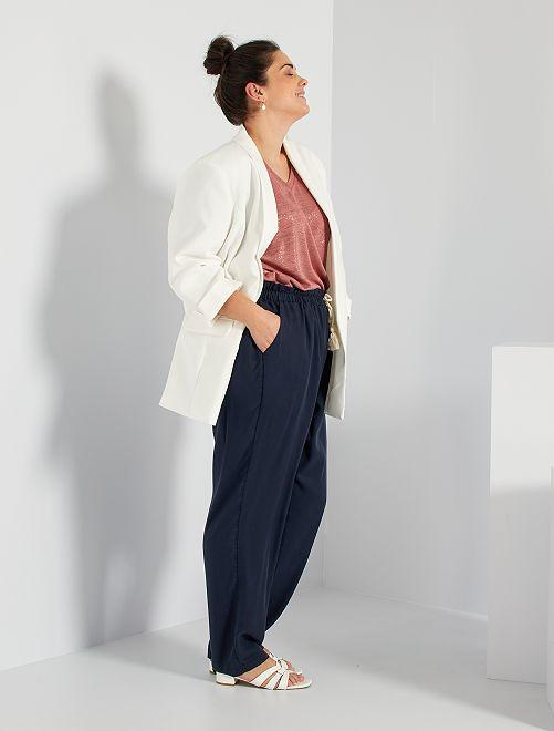 Pantalon en lyocell                             bleu marine