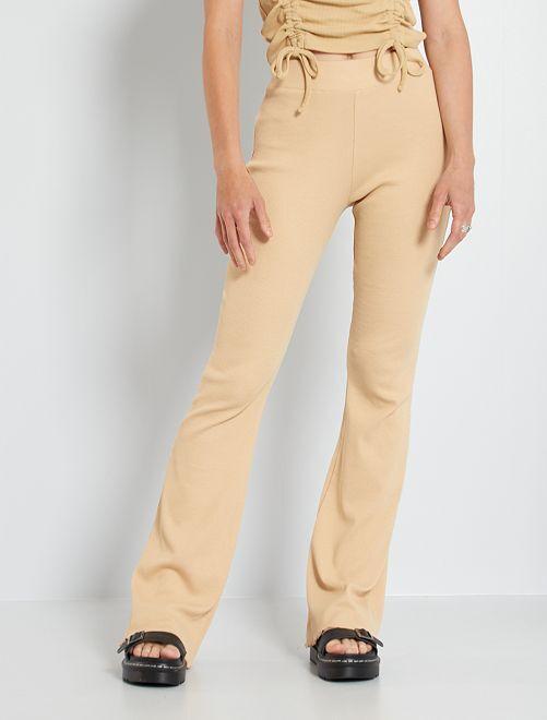Pantalon en maille                                         beige