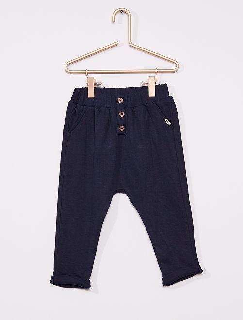 Pantalon en maille                                                     bleu marine