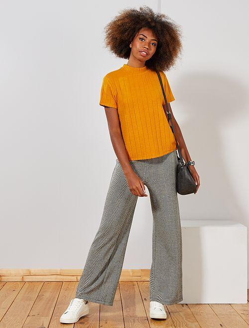 Pantalon en maille chevrons                             chevrons Femme