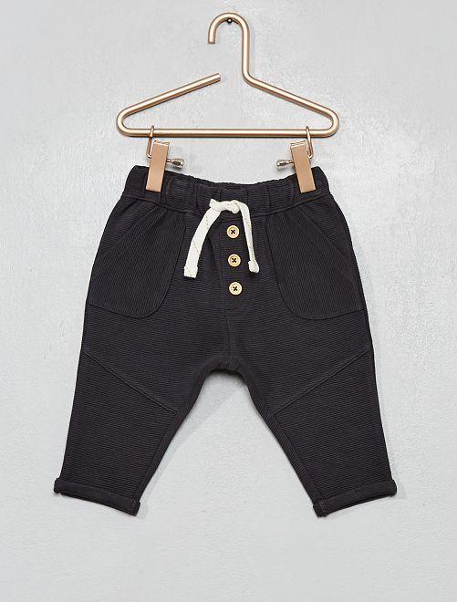 Pantalon en maille côtelée                                                                             gris foncé