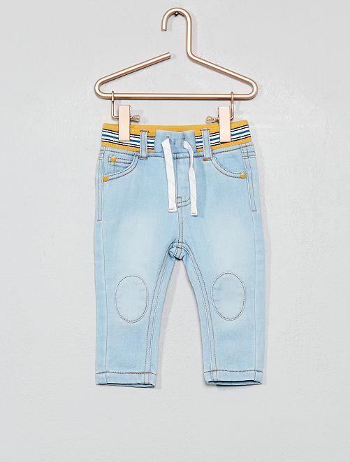 Pantalon en maille denim ultra-confortable                             bleu clair Bébé garçon
