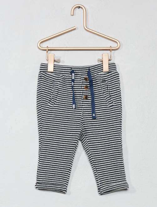 Pantalon en maille fantaisie                             bleu marine Bébé fille