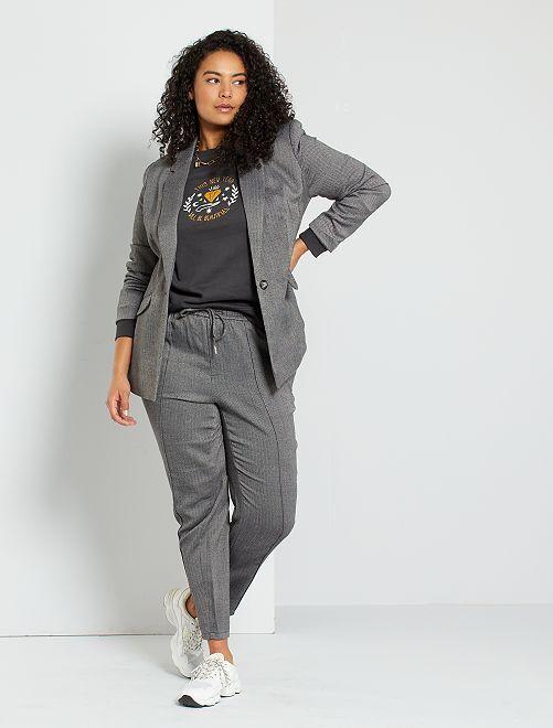 Pantalon en maille                                         gris/chevrons