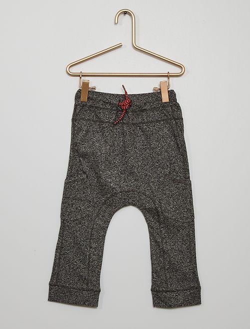 Pantalon en maille jersey éco-conçu                             gris
