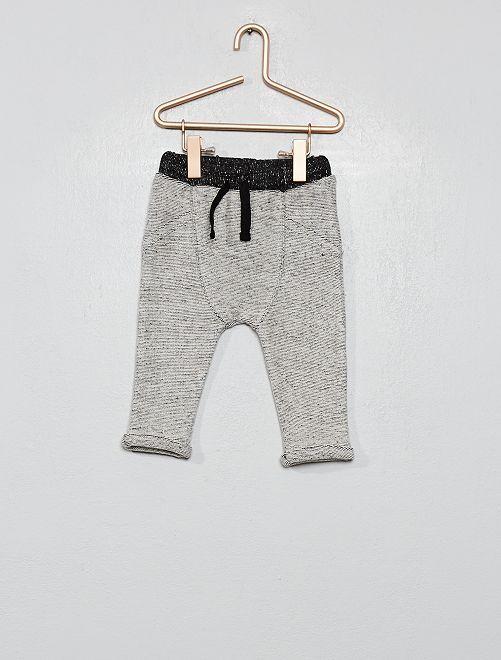 Pantalon en maille lourde grattée                                                     gris clair
