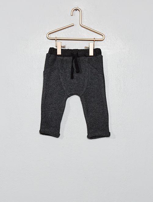 Pantalon en maille lourde grattée                                                     gris foncé