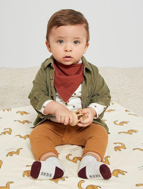 Pantalon en maille ottoman                                                                 marron