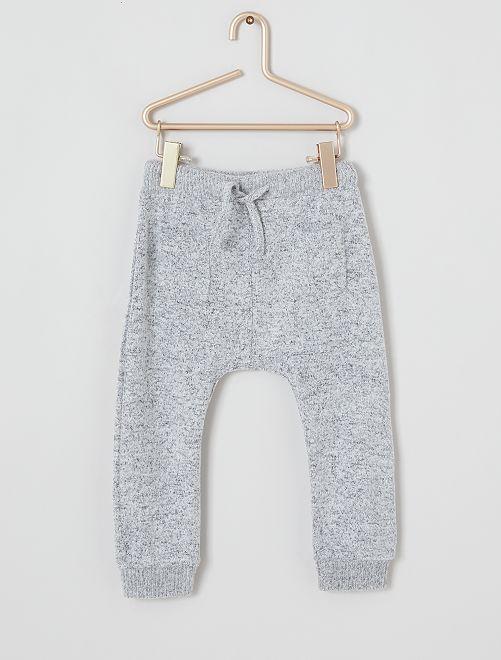 Pantalon en maille ultra douce                                                     gris