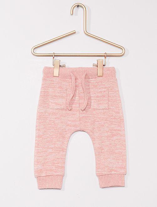 Pantalon en maille ultra douce                                                     rose chiné
