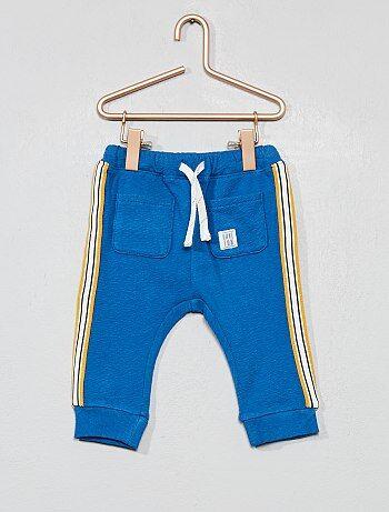 0bab6550e2a53 Garçon 0-36 mois - Pantalon en molleton à bande côté - Kiabi