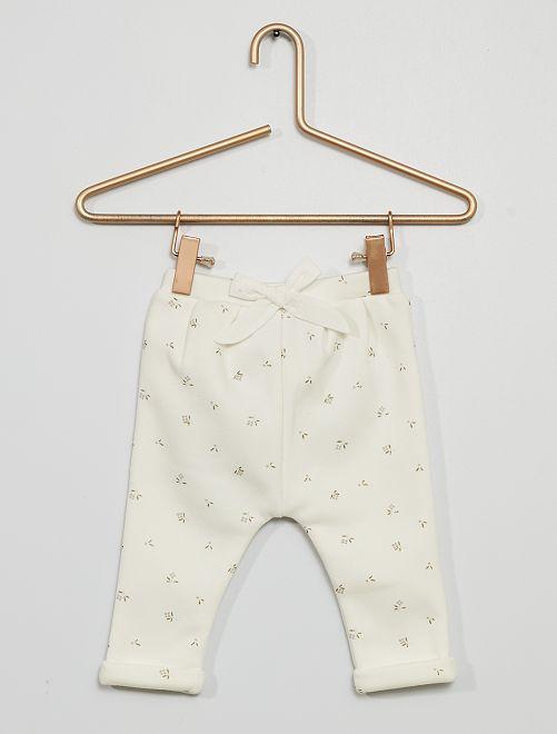 Pantalon en molleton                                                                 blanc