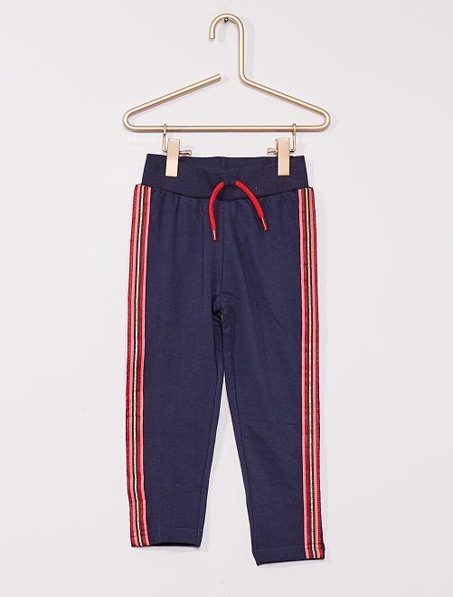 Pantalon en molleton                             bleu marine