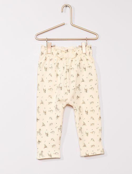 Pantalon en molleton chaud 'Bambi'                                         beige