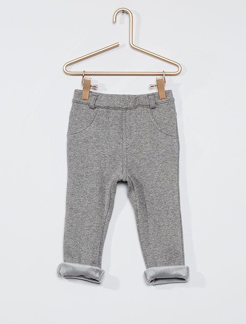 Pantalon en molleton chaud                                                     gris