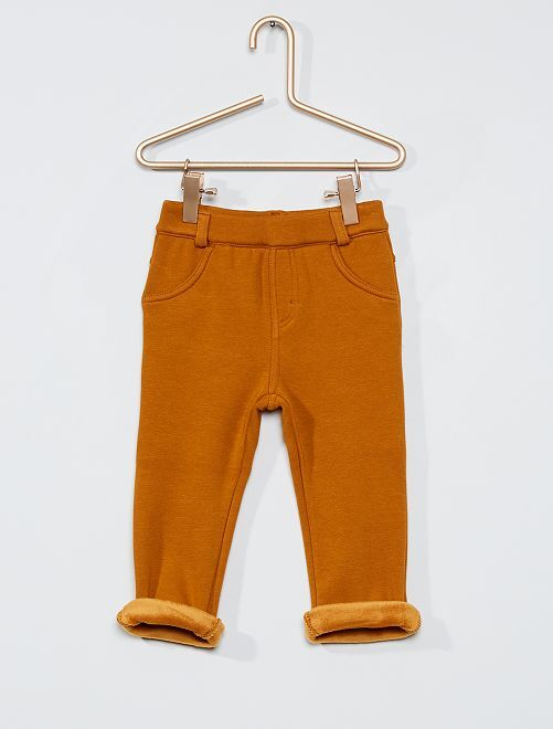 Pantalon en molleton chaud                                                     jaune