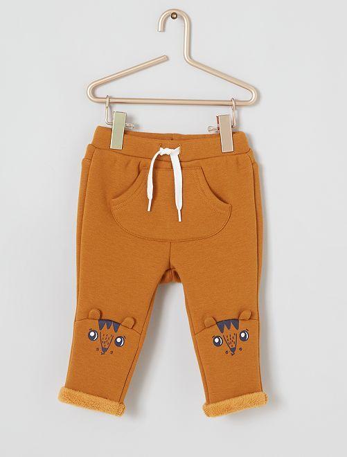 Pantalon en molleton chaud                                         jaune moutarde