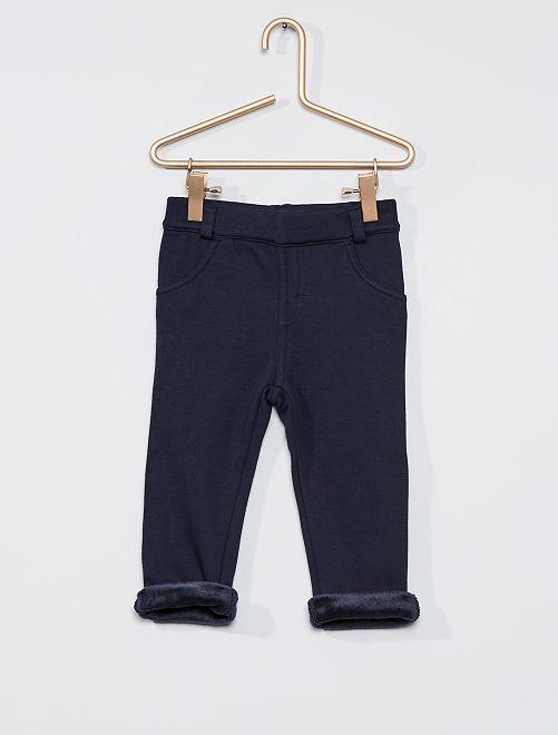 Pantalon en molleton chaud                                                     marine