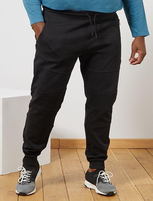 Pantalon en molleton découpes genoux                                         noir
