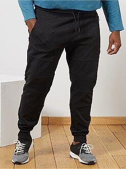 Pantalon en molleton découpes genoux - Kiabi