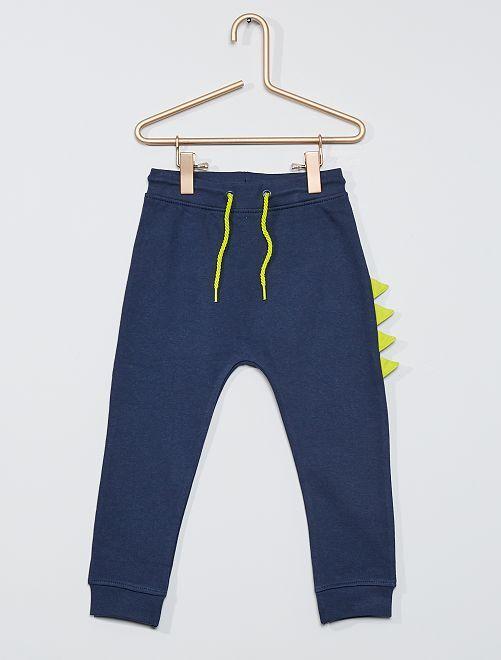 Pantalon en molleton 'dinosaure'                                         bleu marine