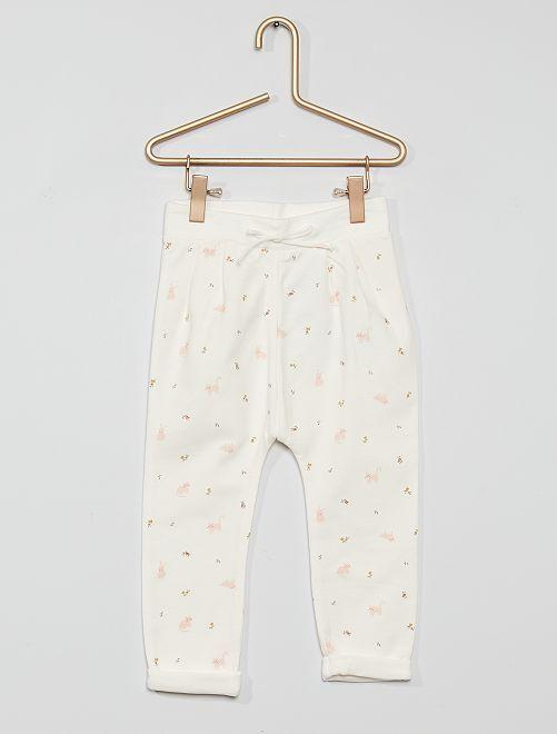 Pantalon en molleton éco-conçu                                                                             blanc