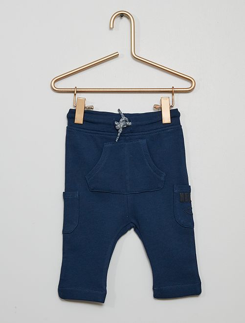 Pantalon en molleton éco-conçu                                                     bleu