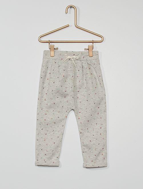 Pantalon en molleton éco-conçu                                                                             gris