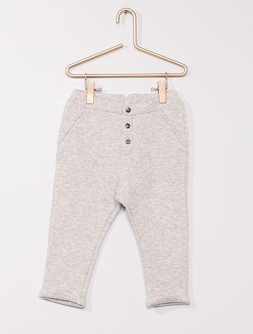 Pantalon en molleton 'éco-conçu'                                                     gris