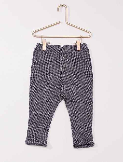 Pantalon en molleton 'éco-conçu'                     gris/bleu