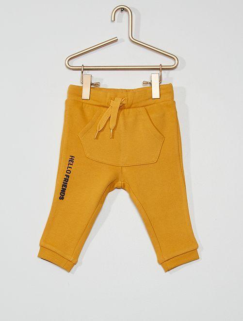 Pantalon en molleton éco-conçu                                                                                                                 jaune moutarde