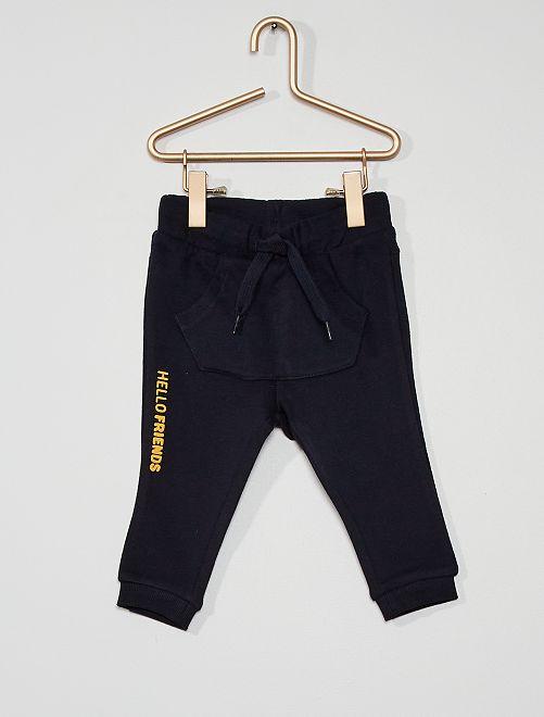 Pantalon en molleton éco-conçu                                                                                                                 marine