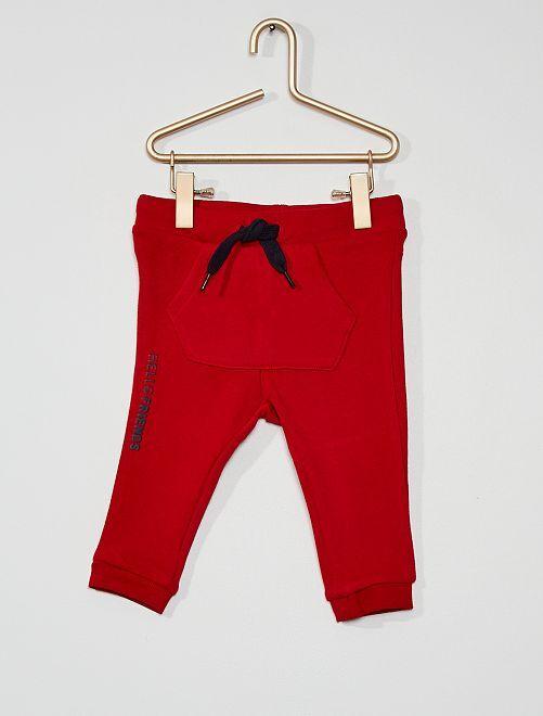 Pantalon en molleton éco-conçu                                                                                                                 rouge