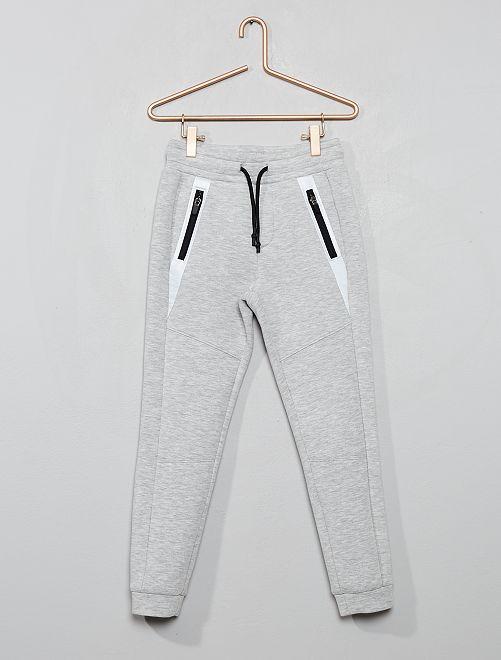 Pantalon en molleton effet néoprène                                                                 gris chiné Garçon