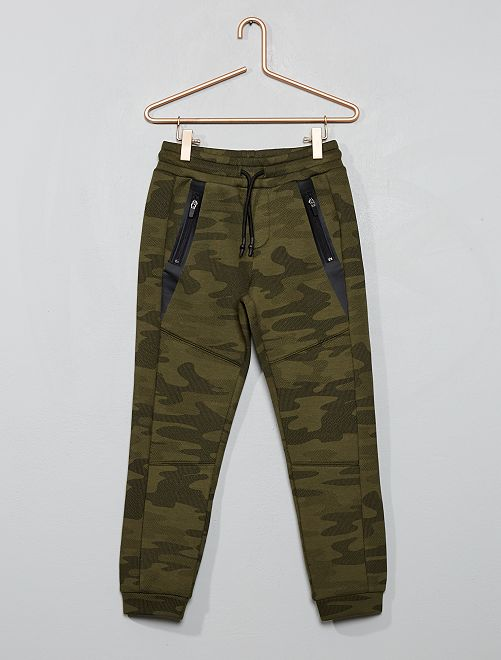 Pantalon en molleton effet néoprène                                                                 kaki camouflage Garçon