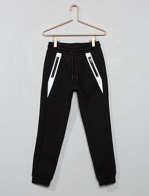 Pantalon en molleton effet néoprène                                         noir